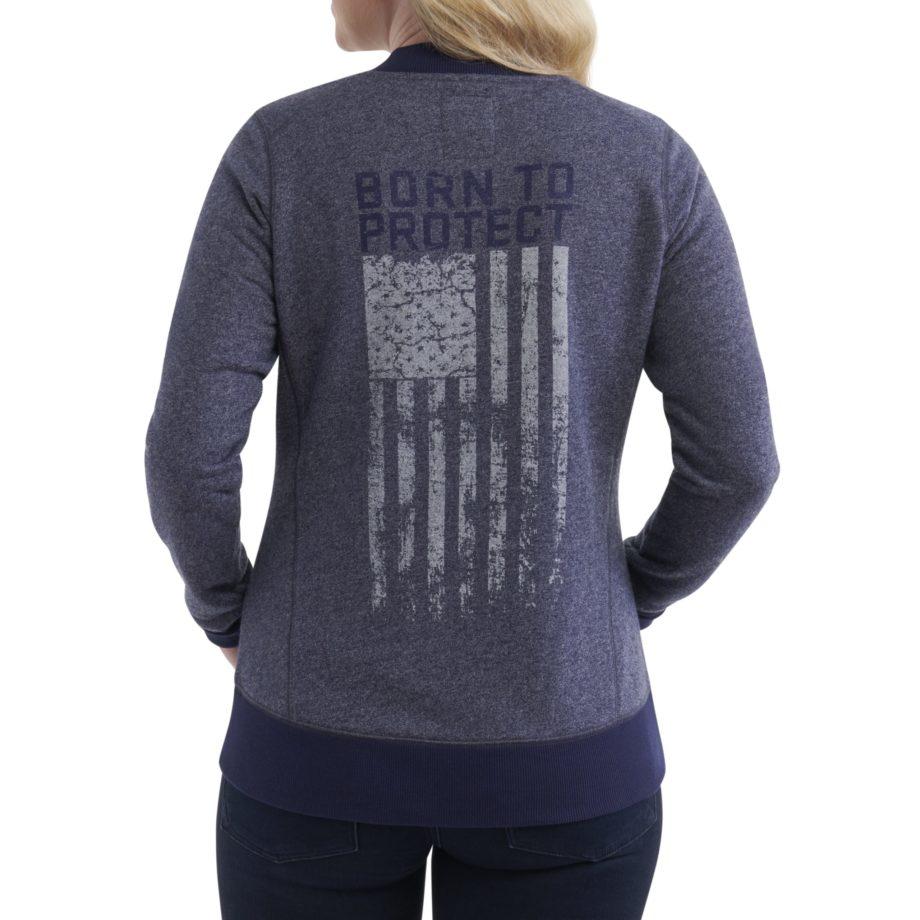 Back-USCCA Women's New Era French Terry Full-Zip Sweatshirt