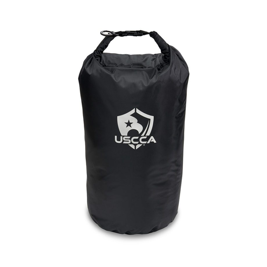 USCCA Logo 20L Dry Bag rolled