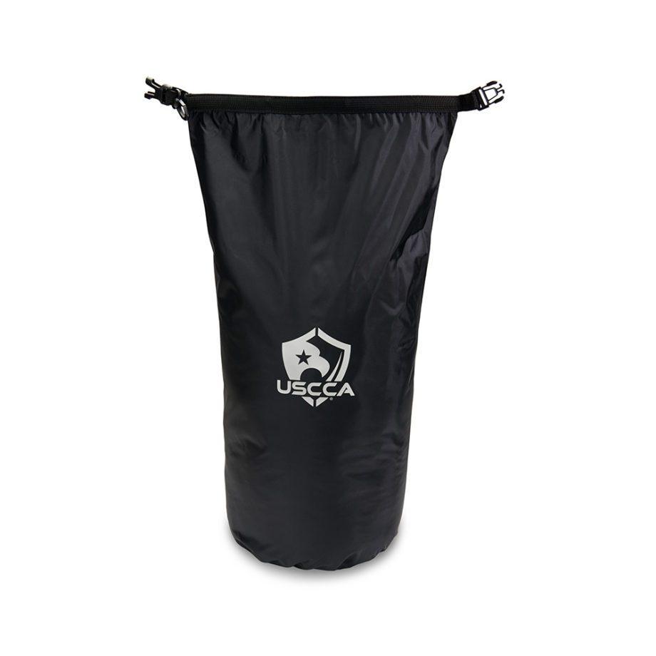 USCCA Logo 20L Dry Bag unrolled