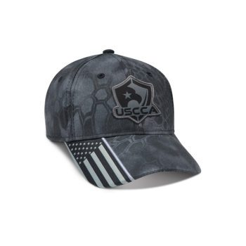 USCCA Logo Patch Flag Brim Hat (Gray Pattern) front