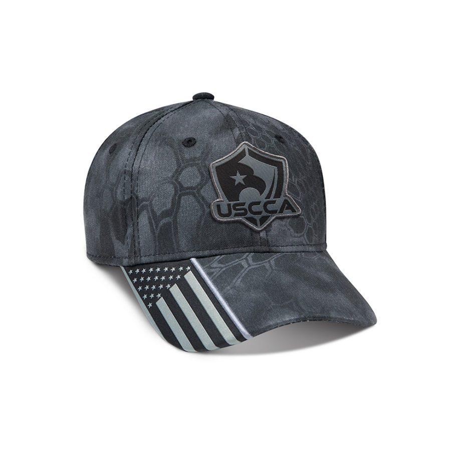 USCCA Logo Patch Flag Brim Hat (Gray Pattern) front