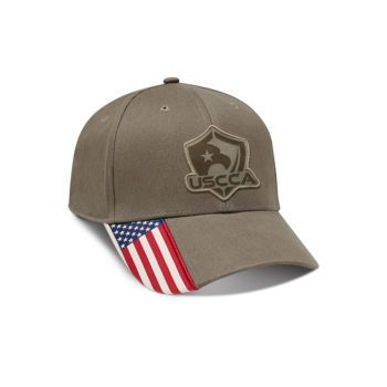 USCCA Logo Patch Flag Brim Hat (Olive RWB) Front