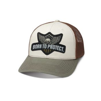 Born to Protect trucker hat front