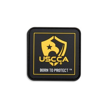 USCCA Born To Protect Square PVC Patch