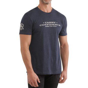 On figure-USCCA Men's Carry Confidence Stars Tee