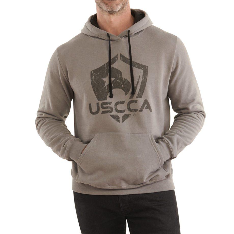 On figure-USCCA Men's Logo Hooded Sweatshirt
