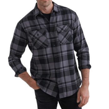 USCCA Men's Plaid Logo Flannel Shirt On Figure