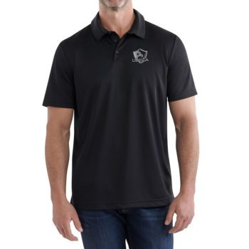 USCCA Men's Logo Dry-Fit Performance Polo On Figure