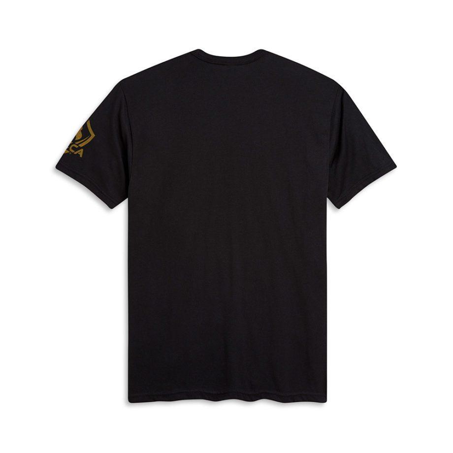 USCCA Men's Born To Protect Eagle T-Shirt flat back black