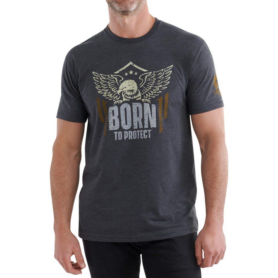 Born to Protect Shirt Gray