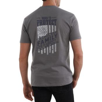USCCA Men's We The People T-Shirt (Heavy Metal) Back
