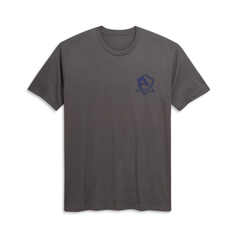 USCCA Men's We The People T-Shirt flat gray front