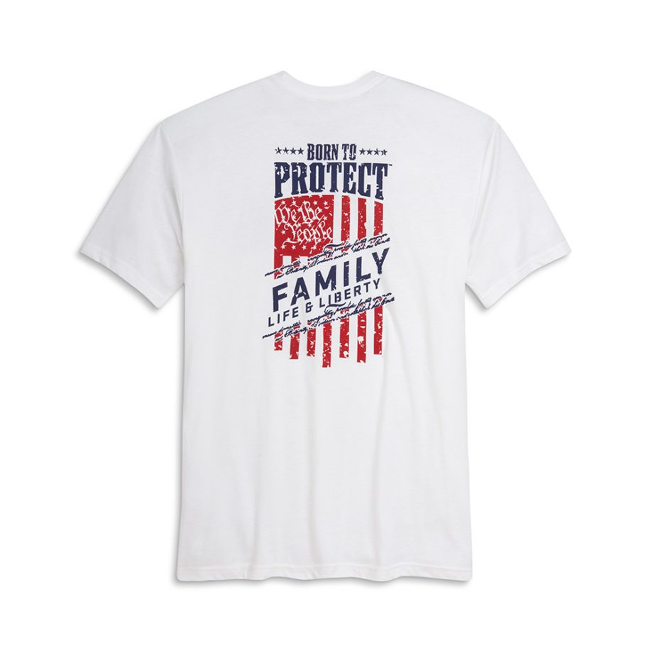 USCCA Men's We The People T-Shirt flat white back