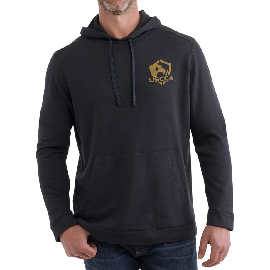 Born to Protect sweatshirt front on figure