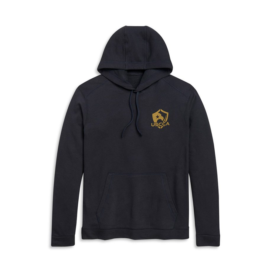 Born to Protect black hoodie flat front