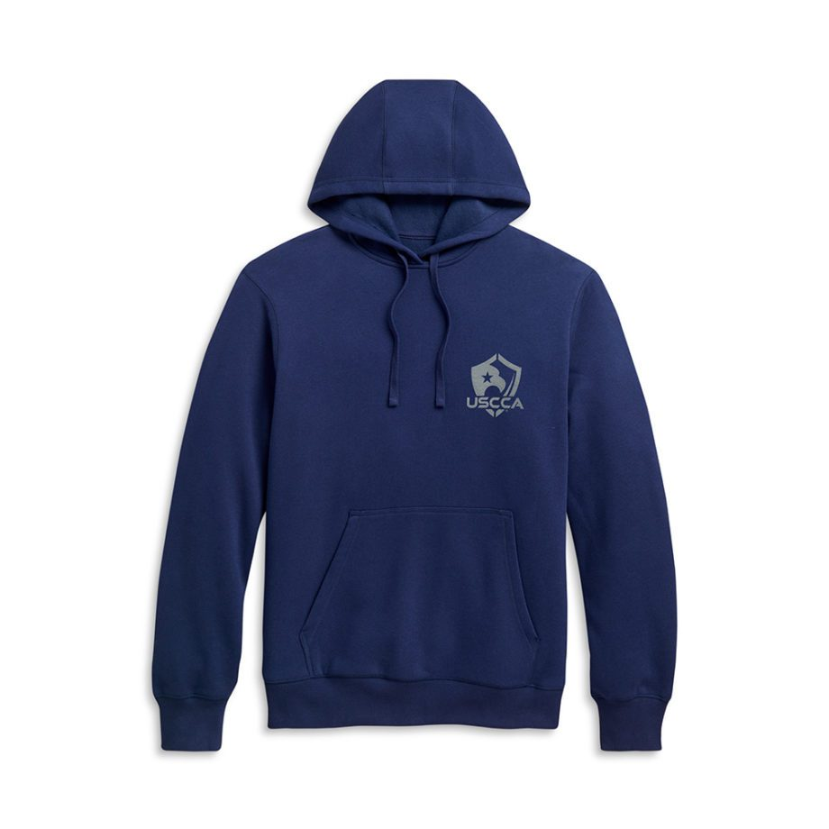 Faith, Family, Firearms hoodie blue flat front