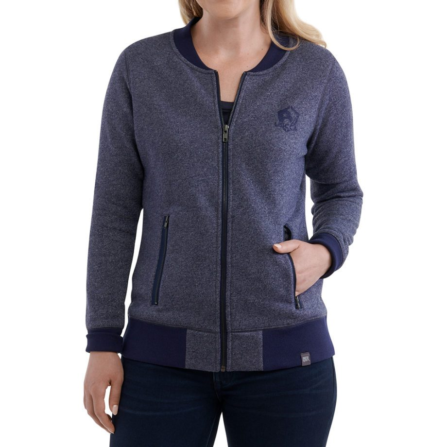 On figure-USCCA Women's New Era French Terry Full-Zip Sweatshirt