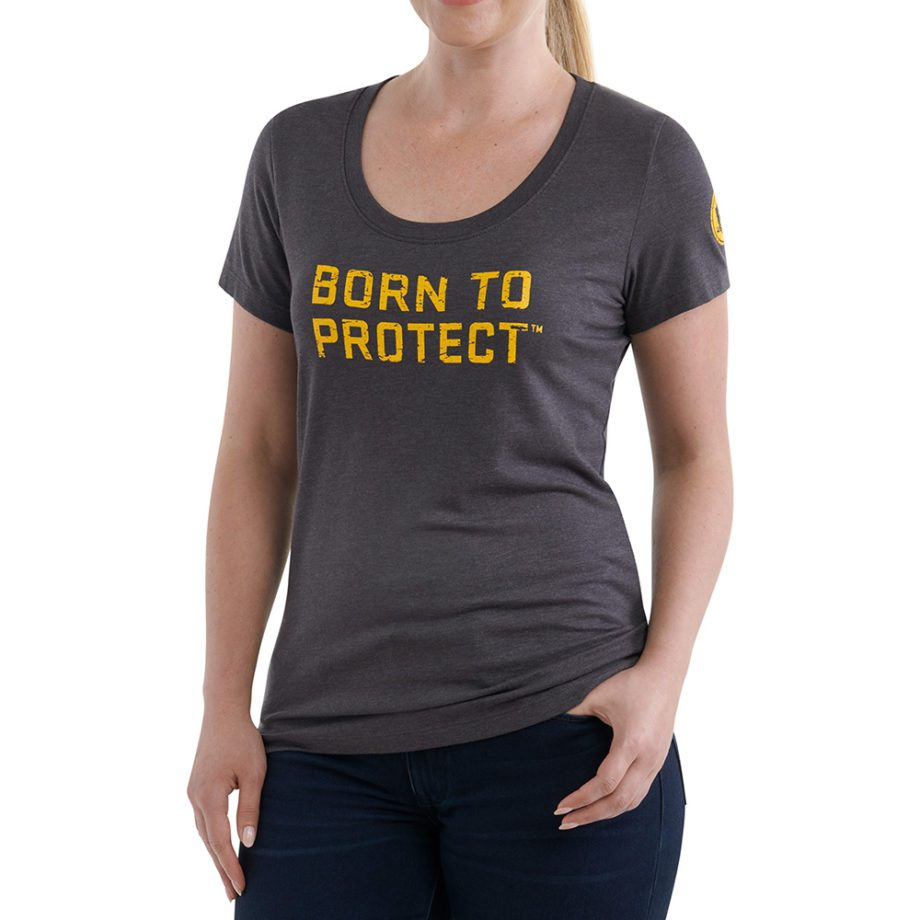 On Figure-USCCA Women's Short-Sleeve Born To Protect T-Shirt