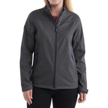 On figure-USCCA Women's Endurance Softshell Logo Jacket