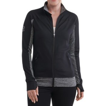 On figure-USCCA Women's Lotus Full-Zip Logo Jacket
