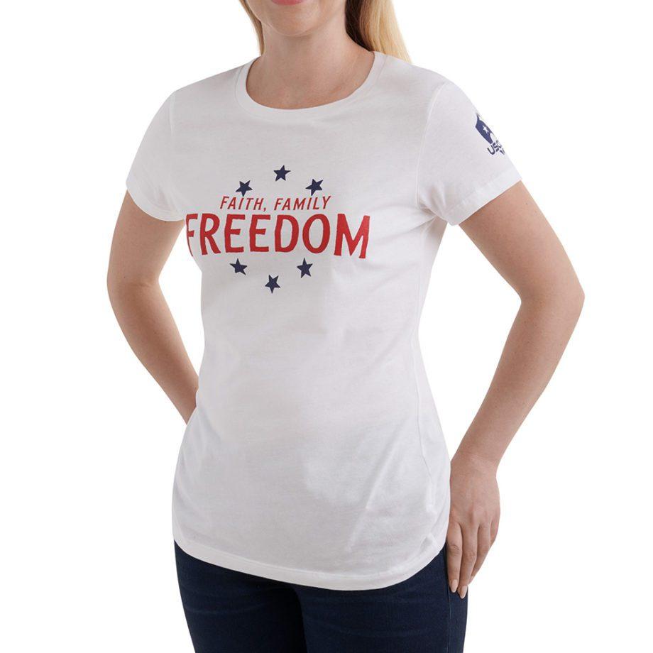Faith, Freedom, Family shirt front
