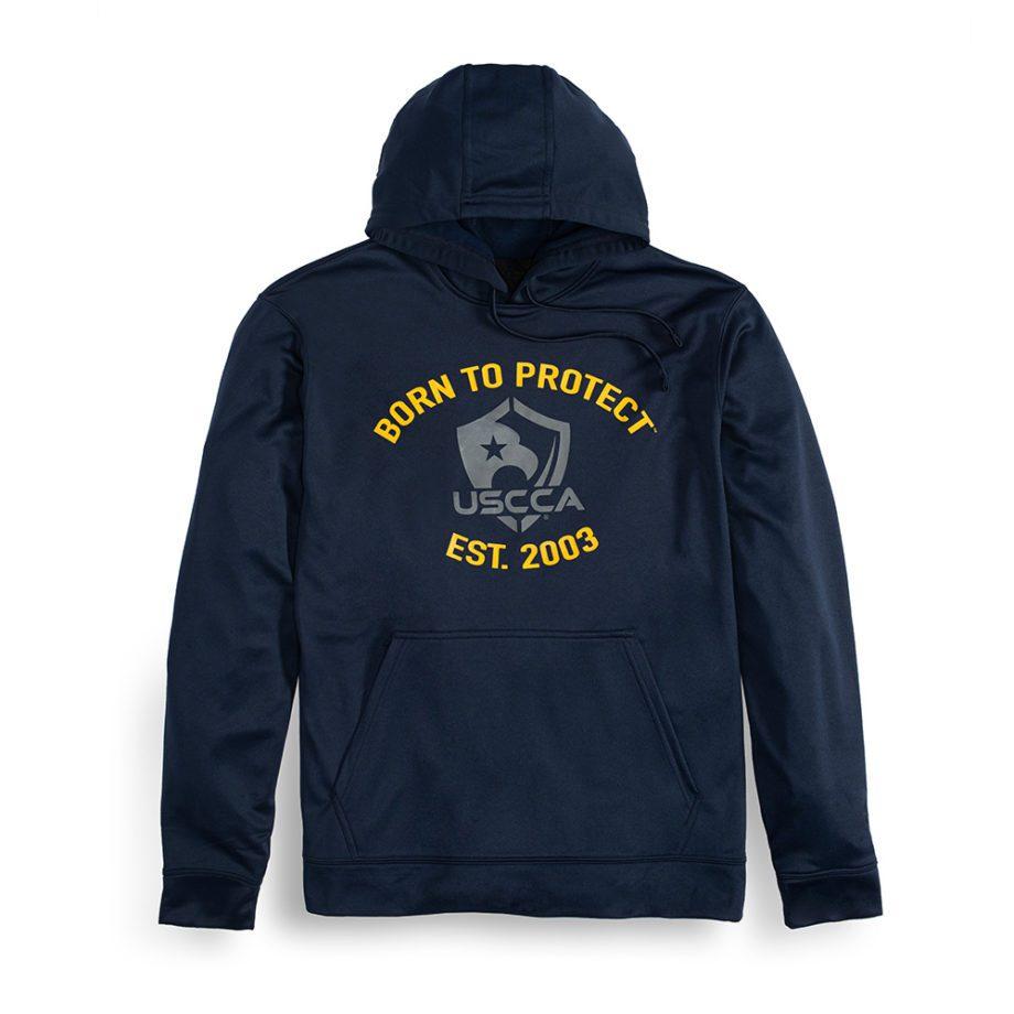 Front-USCCA Men's Born To Protect Est. Hooded Sweatshirt