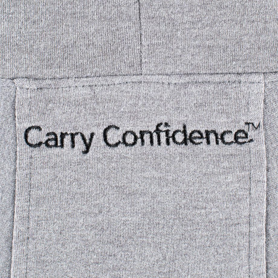 Carry Confidence-USCCA Women's Gray Embroidered Tunic Hoodie